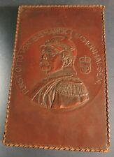 Patriotische Kasse Bismarck Leder / Holz um 1900