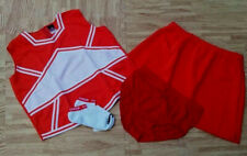 New Adult Orange Cheerleader Uniform Top Skirt Brief 42-44/32-36 Gators Broncos