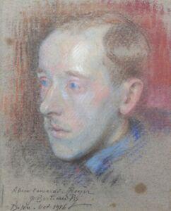 Bertrand Py (1895-1973) Porträt Dijon Belfort Soldat 1ere Weltkrieg