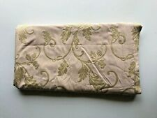 """One Panel of Dusty Rose with Embroidered Leaf Drape.  52""""x92"""""""