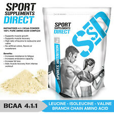 500G  PURE BCAA 4:1:1 INSTANTISED POWDER - PREMIUM PRODUCT - UNFLAVOURED & PURE