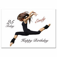 673; Special Personalised Birthday card; sport Dancing, Dancer; Any age, name