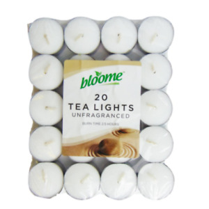 Bloome 311684 Tea Light Candles - 20 Pack