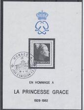 MONACO bloc 24 - PRINCESSE GRACE de 1983 ** OBLITERE 1er JOUR