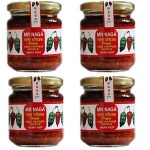 4 x MR NAGA Chilli Pepper Pickle - 190g jars great price FREE P&P
