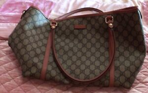 Gucci Logo Large Tote Bag Excellent Condition