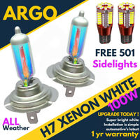H7 100w 8500k Xenon Hid Super White Effect Look Headlight Lamps Light Bulbs 501