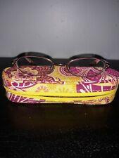 Vera Bradley Eyeglass Reading Glasses Readers W/Case Gienna Bali Gold (BDG) 130