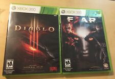 Diablo 3 & F.E.A.R. 3 Xbox 360 Game Bundle - Rated M For Mature