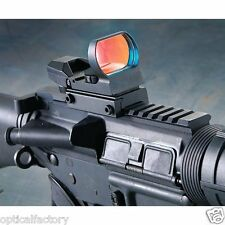 33mm Lens Tactical Combat Red Dot Sight 4 Reticles Scope W/ Built-in Mount