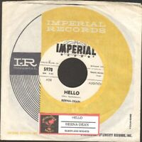 Berna-Dean - Hello/Sleepless Nights 45 rpm vinyl record Free Shipping