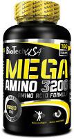 BioTech USA Mega Amino 3200 Amino Acid Formula 100 Tablets - Free Shipping !