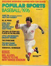 1976 Popular Sports baseball magazine Pete Rose Cincinnati Reds, Madlock Cubs VG