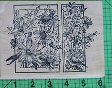 Daisies and Wildflowers 2-Panel rubber stamp by Magenta