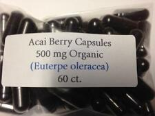 Acai Berry Freeze Dried Organic Vegan Capsules 60ct. 100% Pure Acai Berry Powder