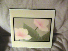 "CAROL HOFFNAGLE  ""MARGARET"" POPPIES DECORATIVE CERAMIC TILE  THE A.R.T. CO"