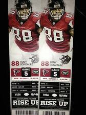 2013 ATLANTA FALCONS VS NEW YORK JETS TICKET STUB 10/7/13 TONY GONZALEZ ON STUB