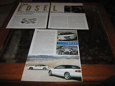 Ford Edsel partie 1 article Chrysler Sebring jxi vs Chevrolet Cavalier Z24 article