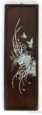 Solid Wood Picture, with abalone inlay flower pattern, Nice decoretion M3