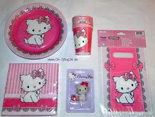 43 tl Charmmy Hello Kitty Partyset Teller Becher Servietten Kindergeburtstag NEU