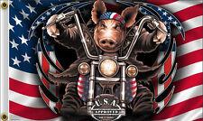 NEW 3x5 GREAT AMERICAN HAWG HARLEY MOTORCYCLE BIKER HOT LEATHERS FLAG