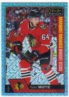 2016-17 O-Pee-Chee Platinum Ice Blue Traxx Parallel #193 Tyler Motte Blackhawks