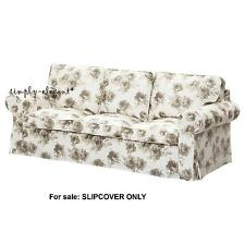 IKEA Cover for EKTORP Sofa 3 seat Sofa Slipcover, Norlida White Beige Floral NEW