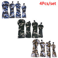 Golf Wood Head Covers for Driver Fairway Hybrid Camouflage Cover Set 4Pcs/set FT