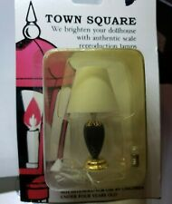 Town Square Black China Lamp T8524 Dollhouse Miniature 1:12 Twelve Volt