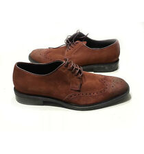 Kenneth Cole men's wing tip brown suede shoes size 8.5 (41.5) Brick Style Savvy