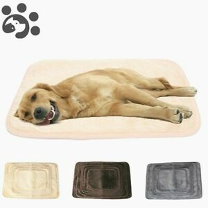 Pet Dog Warm Mat   Puppy Calming Soft Blanket Bed Cushion Mats Washable Fleece