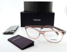 CHANEL Glasses Square 3323 1533 54 16 135 Lady Eye Frame Pink Brown + Prada Case