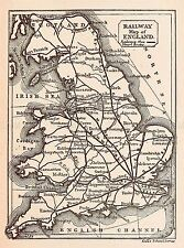 MAP REPRO ANTIQUE GILL RAIL RAILWAY ENGLAND LARGE ART PRINT LF893