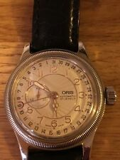 ORIS 7463B Crown Pointer Gold Bezel 27 Jewels with Paperwork & Box