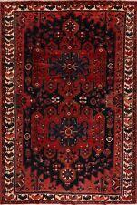 Vintage Geometric Bakhtiari Area Rug Handmade Wool 7x10 Tribal Oriental Carpet