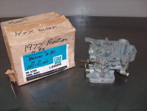 1977 Pontiac Sunbird GM OEM Holley 2 Barrel Carburetor Throttle Body/Base