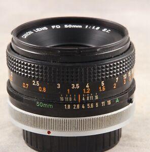 Canon 50mm 1.8 S.C. FD Mount Lens