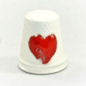 Vintage Ceramic Spooky Blood Heart Be My Valentine Thimble Steampunk