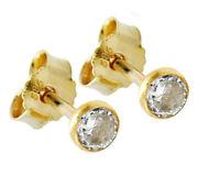 585 ECHT GOLD *** 1 Paar Zirkonia Ohrstecker 4 mm