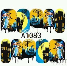 Halloween Nail Wraps water decals Opaque Nail wraps Halloween Nail wraps