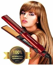 "Professional Flat Iron Hair Straightener Ceramic Tourmaline 1"" Floating Plates"