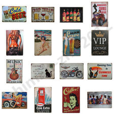Vintage Metal Tin Signs Retro Wall Plaque Club Pub Bar Poster Decor 49 Patterns