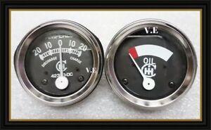 IH farmall tractor gauge--oil & amp gauge set for 1948-1954 cub