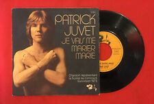 PATRICK JUVET JE VAIS ME MARIER MARIE 61763 EUROVISION 1973 VG+ VINYLE 45T SP
