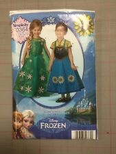 Simplicity Cartamodello Childs Fever Frozen Anna Elsa Costume 3 -8 S0364 1097