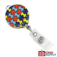 Autism Awareness Print Badge Reels (2124-3050)