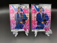 2019-20 Panini Mosaic Stephen Curry MVP Pink Camo Prizm 2 CARD LOT