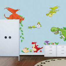 Dinosaur Zoo Wallpaper Decals for Kids Baby  Boy Bedroom Wall Stickers 78