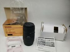 NEVER USED Sigma 70-300mm F4-5.6DL Macro Super #2031040E CANON AF Zoom Lens