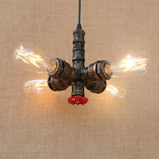 Industrial Hanging Pipe Ceiling Lamp Pendant 4 Light Fixture Fitting